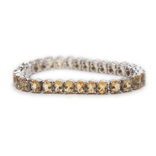 SOLD! Citrine & Pure Silver Bracelet