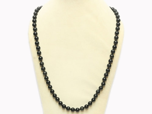 Obsidian Necklace with Round Stones
