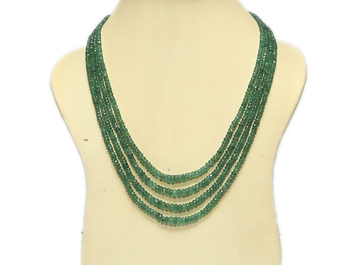 Emerald Four String Necklace