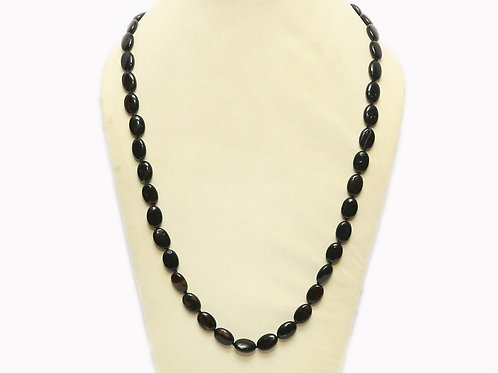 Obsidian Necklace with Oval Stones