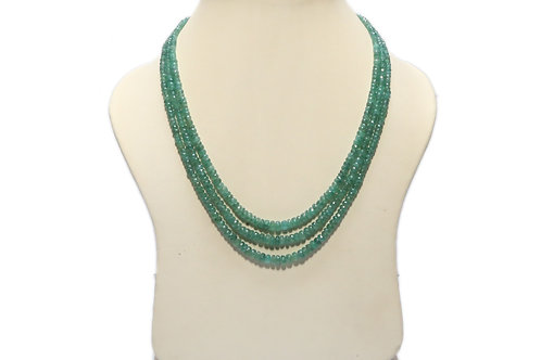 Emerald Three String Necklace