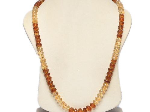 Shaded Citrine Necklace