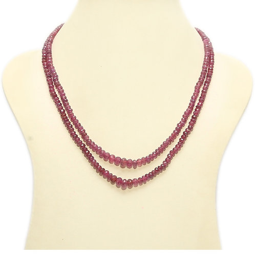 Restock in progress: Ruby Double String Necklace