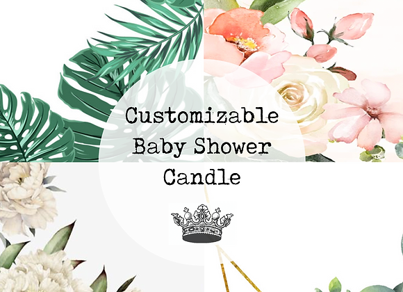 Customizable Baby Shower Candle
