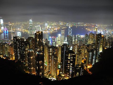 View from Victoria Peak at Night (Hong Kong)