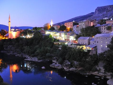 Neretva River at Night (Mostar, Bosnia)