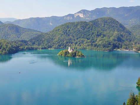 Lake Bled from Bled Castle (Bled, Slovenia)