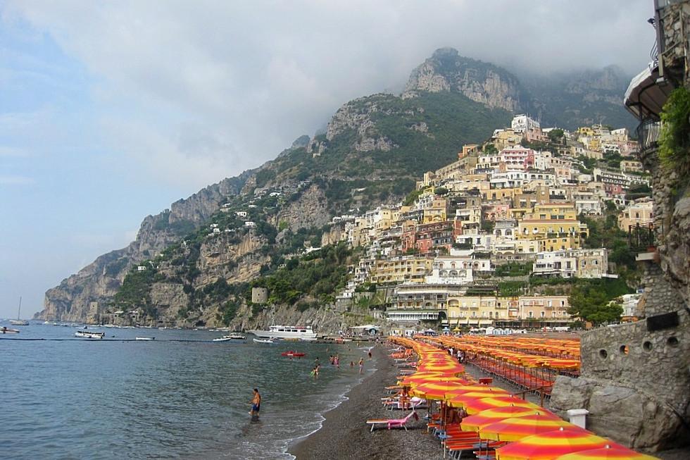 Cliffs Rising From the Sea (Positano, Italy)