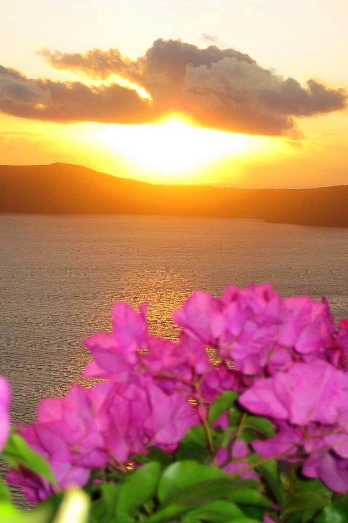 Sunset Over the Caldera (Santorini, Greece)