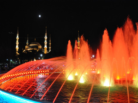 Blue Mosque at Night (Istanbul, Turkey)