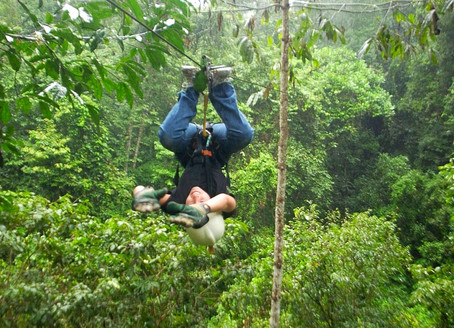 Canopy Tour, Zip-Lining Upside Down (Costa Rica)