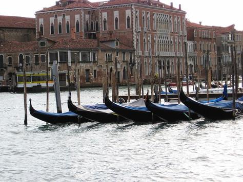 Row of Gondolas (Venice, Italy)
