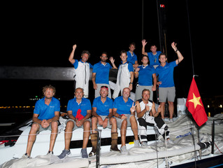 Vincenzo Onorato and his Mascalzone Latino win the Volvo Hong Kong to Vietnam