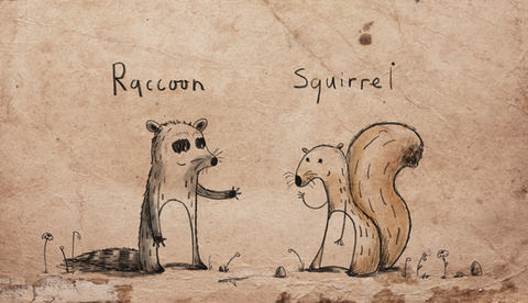 Raccoon and Squirrel