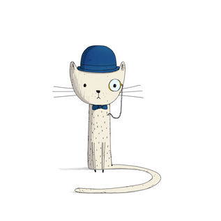 Cat and Monocle