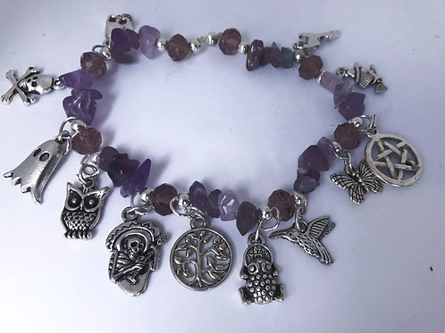 Amethyst Witchy Charm