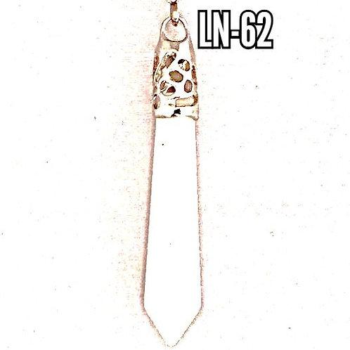 White Quartz 925 wand Pendulum