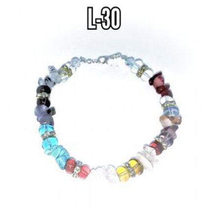 Full Chakra Gemstone Bracelet