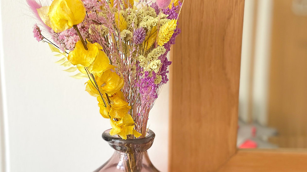 Lilac and lemon dried bunch