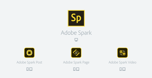 adobe spark, adobe products, free web pages, free social posting, video editing free,