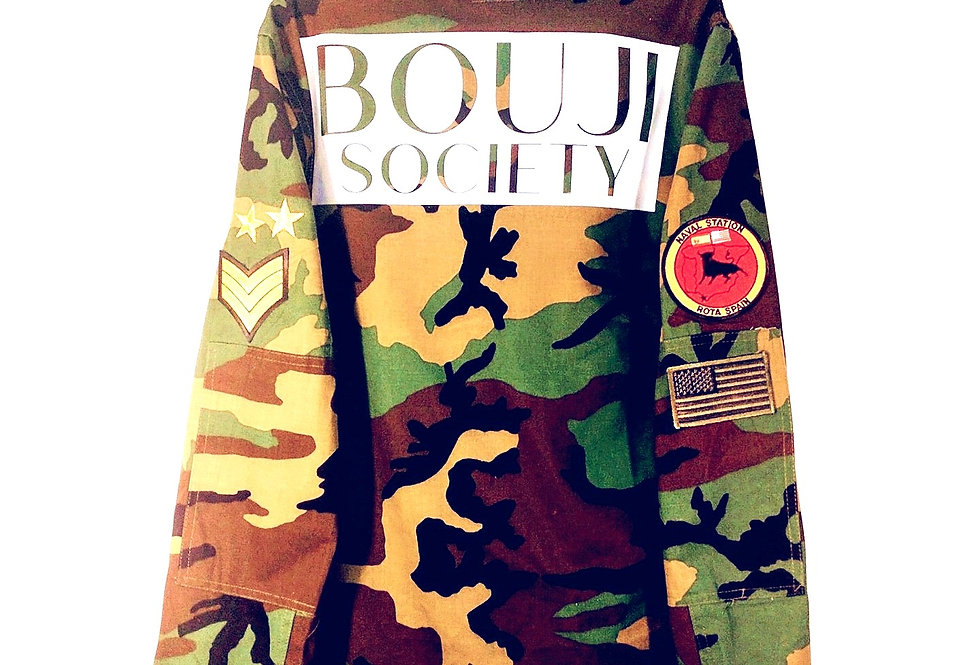 Bouji Society Camo Jacket back - Bouji Society Fashion and Clothing - www.boujisociety.com