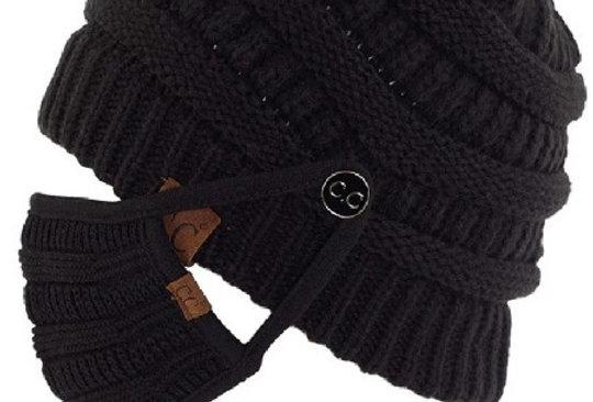 Black Beanie Mask Set