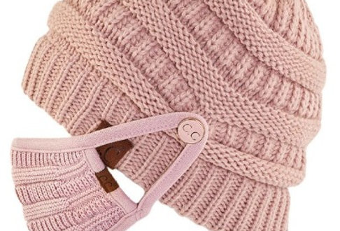 Rose Beanie and Mask Set