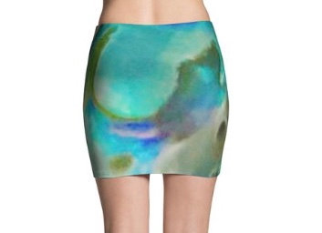 L Blue Heaven Mini Skirt