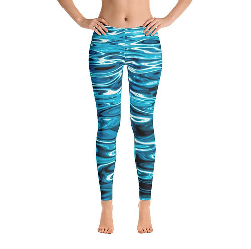 Aqua Shimmers Leggings