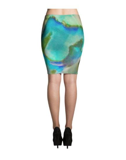 XS Blue Heaven Janinelisa Pencil Skirt