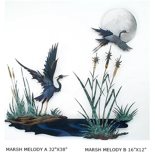 """THE SET """"Marsh Melody A & B"""" ~ 32x38 and 16x12 inches"""