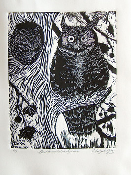 Great Horned Owl in Sycamore