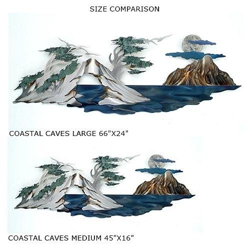 """Coastal Caves Medium"" ~ 45x16 inches"