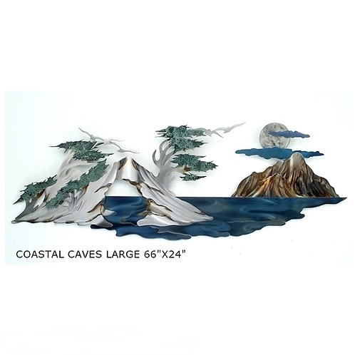"""""""Coastal Caves Large"""" ~ 66x24 inches"""