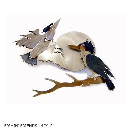"""""""Fishin' Friends"""" ~14x12"""