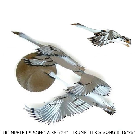 "THE SET ""Trumpeters Song A & B"" ~ 36x24 and 16x6 inches"