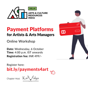 Payment Platforms for Artists & Arts Managers - 6 October, 2021