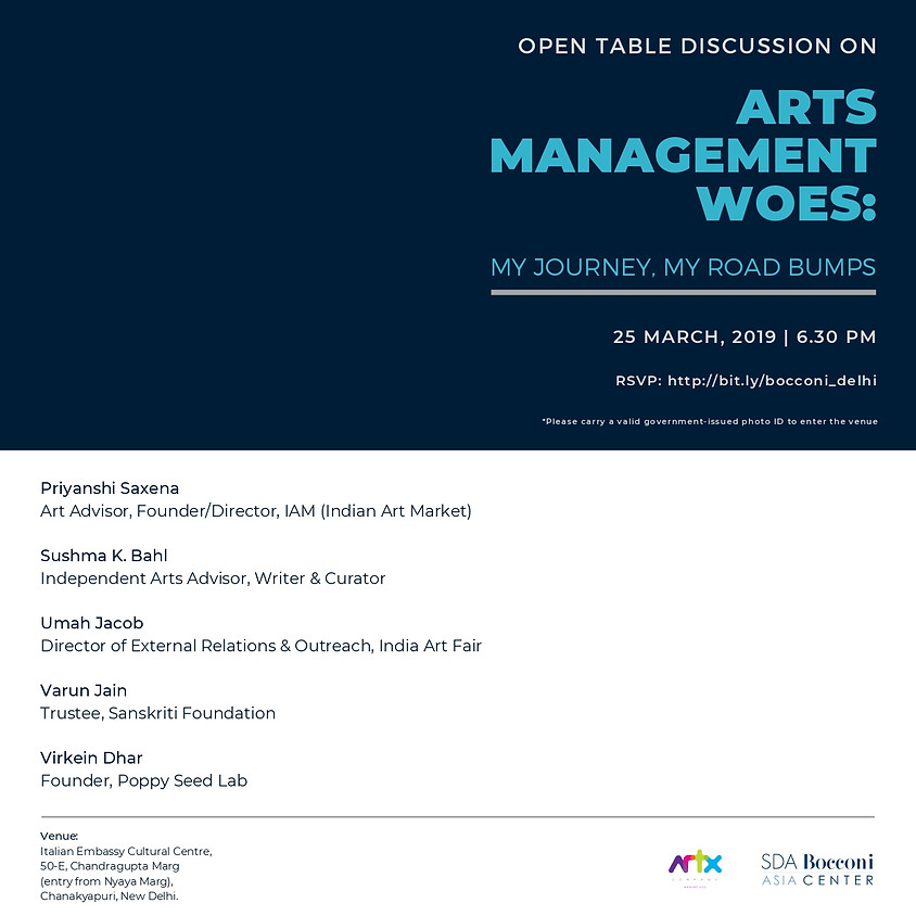 Arts Management Woes: My Journey, My Road Bumps