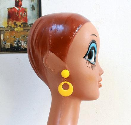 Clips à pendants jaunes
