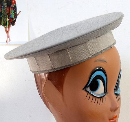 Béret officier gris ancien