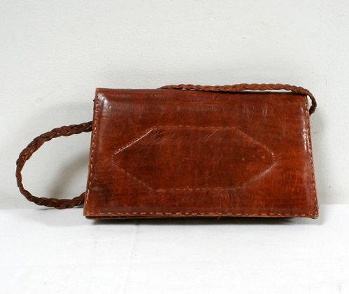 Sac-pochette cuir trapèze
