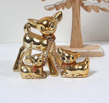 Petites biches dorées rétro