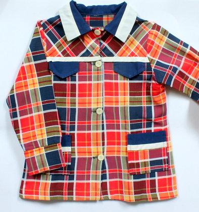 Chemise blouse à carreaux