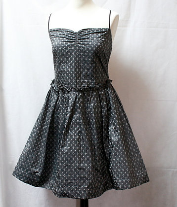 Robe style fifties couleur argent