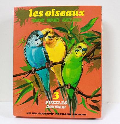 3 puzzles Les oiseaux