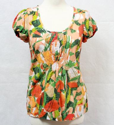 Top blouse manches courtes