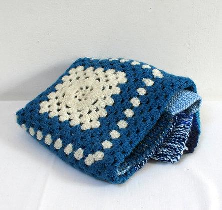 Couverture de bébé bleue