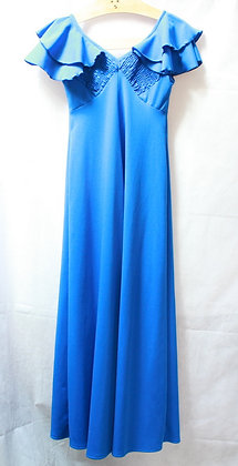 Robe longue bleu électrique 60's