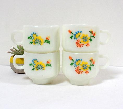 Tasses à café rétro vintage