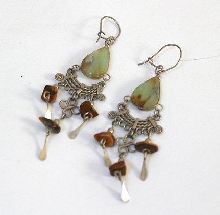 Boucles d'oreilles à pendants style ethnique